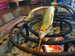 囲炉裏もある農家レストラン