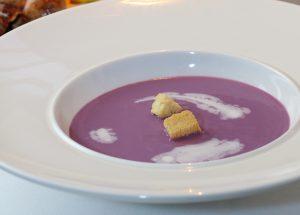 東温産紫芋のスープ