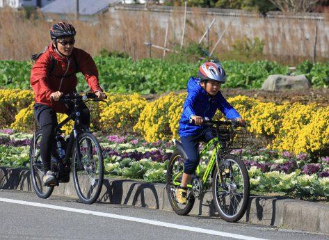 サイクリングのようす