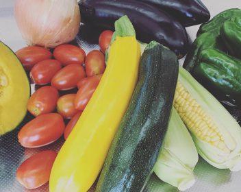 東温市産の野菜たっぷり