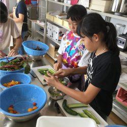 東温市産品を活用した各種料理体験